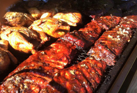 "Everything on the All American Picnic, plus our St. Louis style ""fall of the bone"" slow cooked ribs."