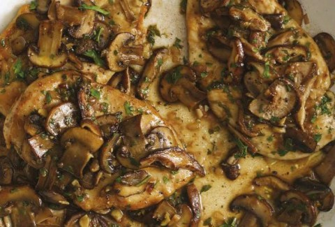 Thin cut chicken breasts, sautéed & served in our homemade marsala wine sauce with mushrooms.