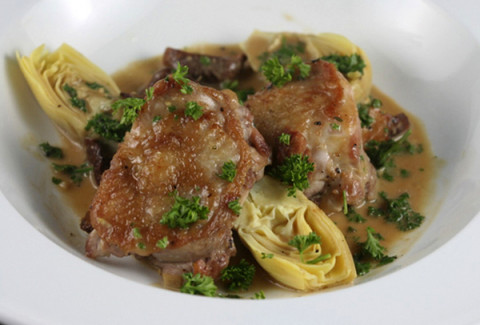 Medallions of chicken and artichokes, sautéed and served in our homemade marsala wine sauce.