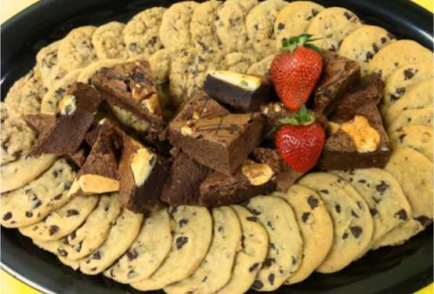 Freshly baked assorted cookies & brownies.