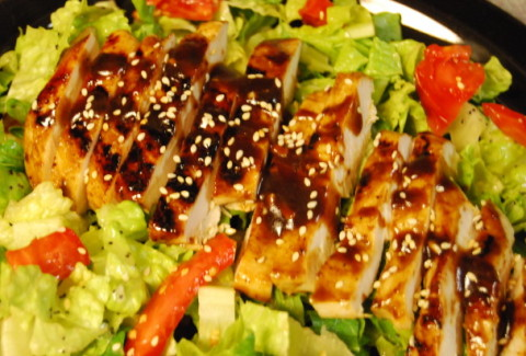 Oriental Barbecued Chicken Salad